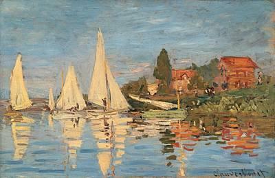 Monet Claude, Regatta At Argenteuil Poster by Everett