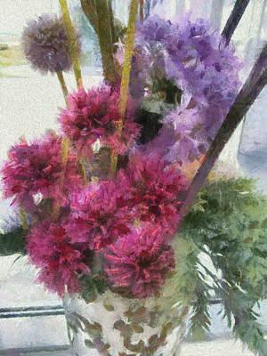 Monet Flowers Poster by Kelly Schutz