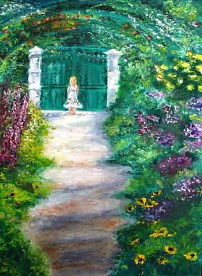 Monet Garden Admirer Poster