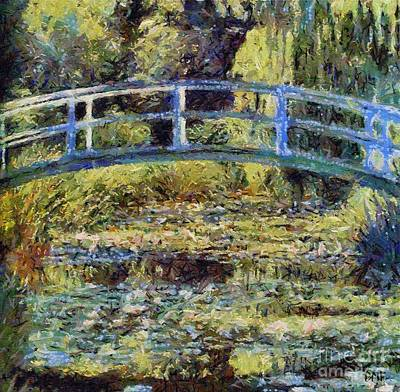 Monet's Bridge Poster