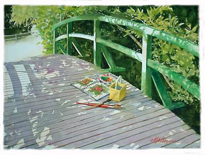 Monet's Bridge Poster