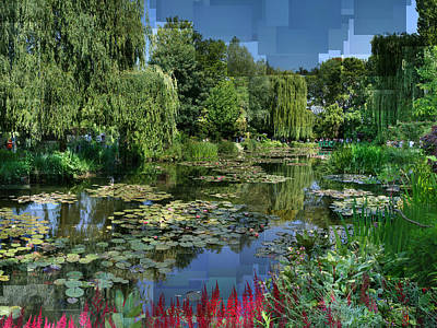 Monet's Lily Pond At Giverny Poster