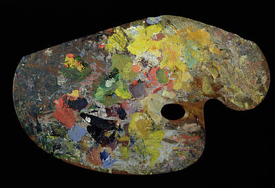 Palette Belonging To Claude Monet Poster by French School