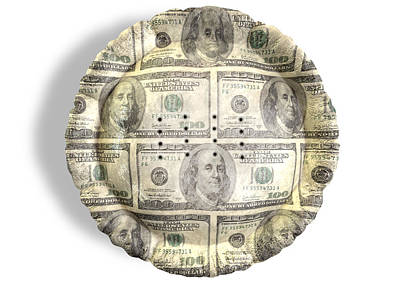 Money Dollar Pie Poster by Allan Swart