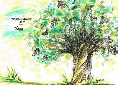 Money Grows On Trees Poster by Teresa White