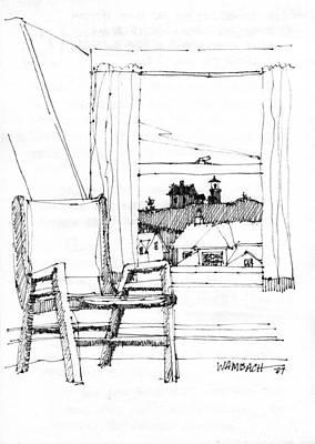 Monhegan Dawn Island Inn Poster by Richard Wambach