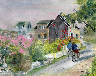 Monhegan In August Poster by Melly Terpening