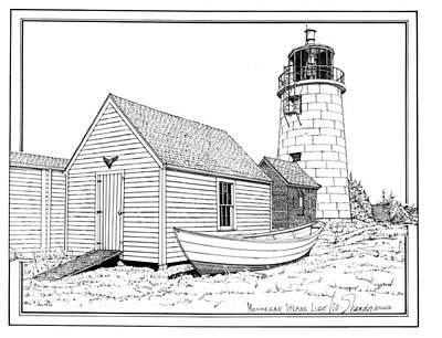 Monhegan Island Light Poster