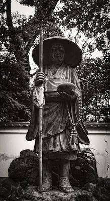 Monk Statuary - Chishakuin Temple -  Kyoto Poster by Daniel Hagerman
