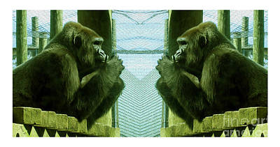 Monkey See Monkey Do Poster by Nina Silver