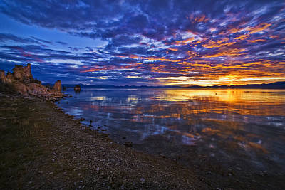Poster featuring the photograph Mono Lake Sunrise by Priscilla Burgers