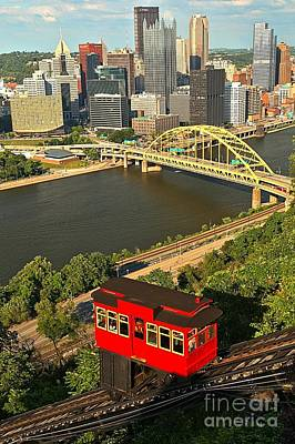 Duquesne Incline Portrait Poster by Adam Jewell
