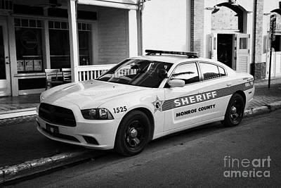 Monroe County Sheriff Patrol Squad Car Key West Florida Usa Poster