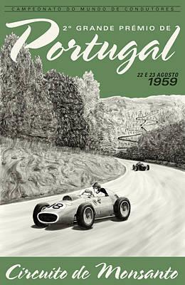 Monsanto Portugal Grand Prix 1959 Poster by Georgia Fowler
