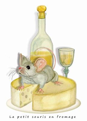 Monsieur Mouse Poster by Anne Beverley-Stamps