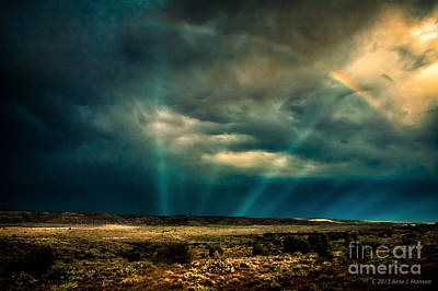 Monsoon Rainbow Poster by Arne Hansen