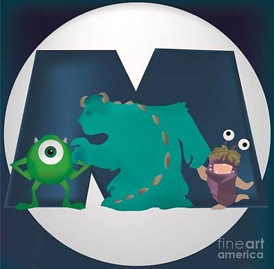 Monsters Inc Poster by Martin Salatta