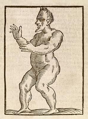 Monstrous Human Figure Poster
