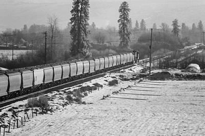 Montana Train Poster by Paul Bartoszek