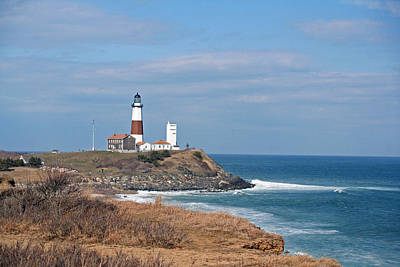 Poster featuring the photograph Montauk Lighthouse/camp Hero by Karen Silvestri