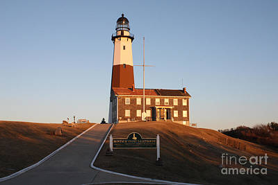 Poster featuring the photograph Montauk Lighthouse Entrance by John Telfer