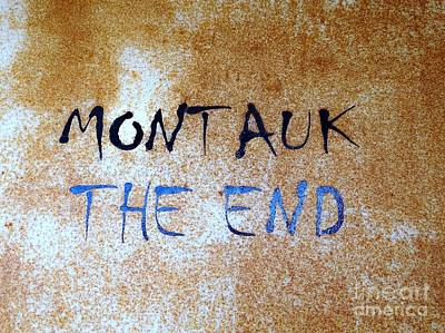 Poster featuring the photograph Montauk-the End by Ed Weidman