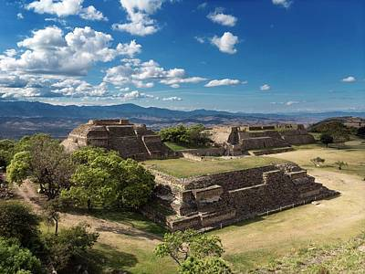 Monte Alban Buildings Poster