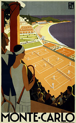 Monte Carlo 1930 Poster by Georgia Fowler