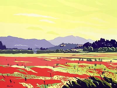 Monte San Quirico, Lucca, 2003 Gouache On Paper Poster by Derek Crow