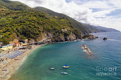 Monterosso Bay Scenic Poster by George Oze