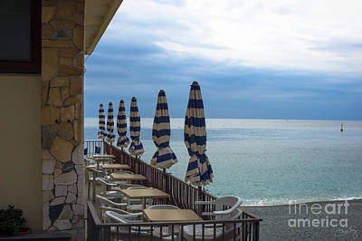 Monterosso Outdoor Cafe Poster by Prints of Italy