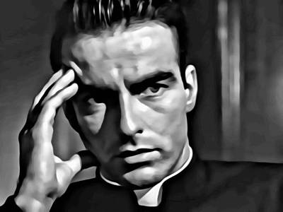 Montgomery Clift Poster by Florian Rodarte