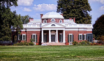 Monticello Poster by Heather Applegate