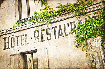 Montmartre Hotel Restaurant  Poster by Delphimages Photo Creations