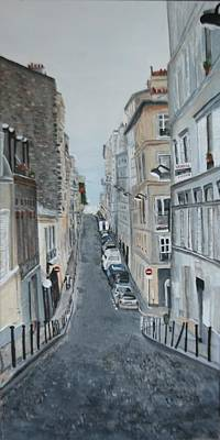Poster featuring the painting Montmartre Paris France by Betty-Anne McDonald