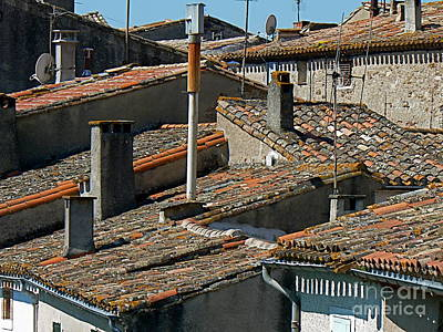 Tile Rooftops Of France Poster by France  Art