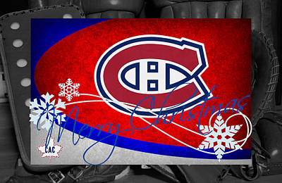 Montreal Canadiens Christmas Poster by Joe Hamilton