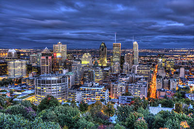 Montreal Skyline At Dusk Poster by Shawn Everhart