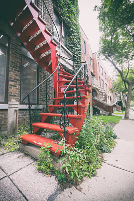 Montreal Spiral Stairs Poster