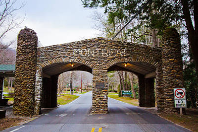 Montreat Gate Poster by Mela Luna