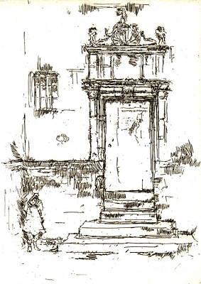 Montresor Chapel Doorway 1840 Poster