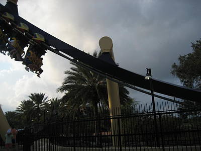 Montu Roller Coaster - Busch Gardens Tampa - 01138 Poster by DC Photographer
