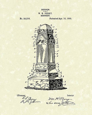 Monument 1895 Patent Art Poster by Prior Art Design
