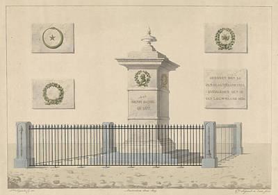 Monument Henri Daniel Guyot, Alphonse Pierre Giraud Poster by Artokoloro