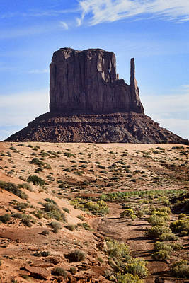 Monument Valley Mitten Poster by Kelley King