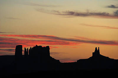 Monument Valley Sunset 1 Poster