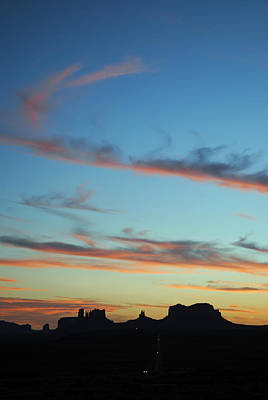 Monument Valley Sunset 3 Poster