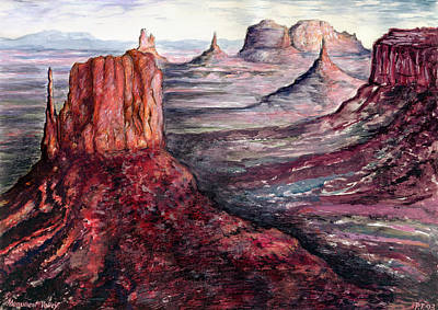 Monument Valley Arizona - Landscape Poster by Art America Gallery Peter Potter