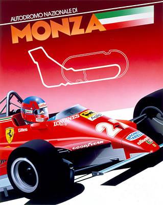 Monza Poster by Gavin Macloud