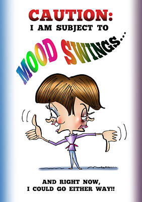 Mood Swings Poster by Mark Armstrong